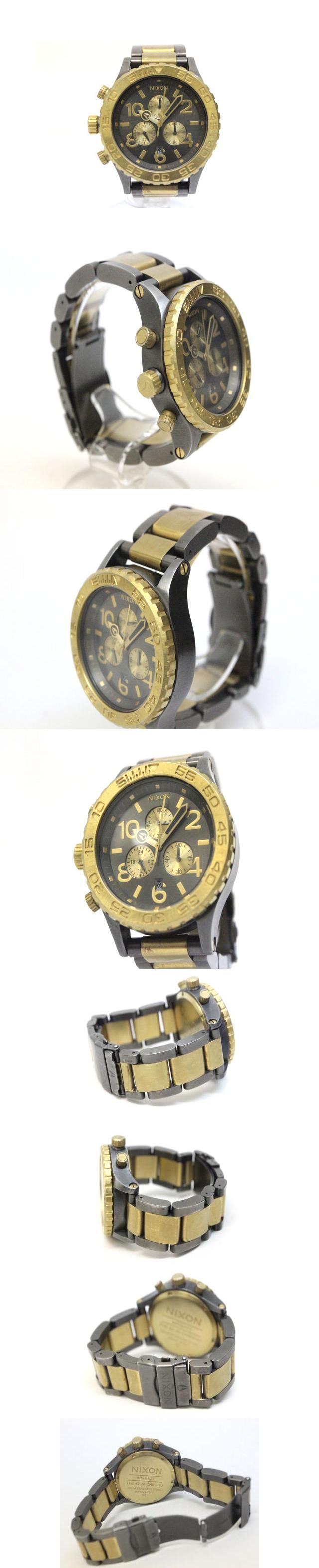THE42-20 CHRONO MINIMIZE 腕時計 ウォッチ クロノグラフ ゴールドカラー /Z