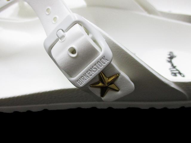 未使用品 ビルケンシュトック BIRKENSTOCK × Marbles マーブルズ コラボレーション Giseh EVA ギゼ エヴァ スタッズ ストーン サンダル 40 白 26cm ホワイト v9 メンズ レディース