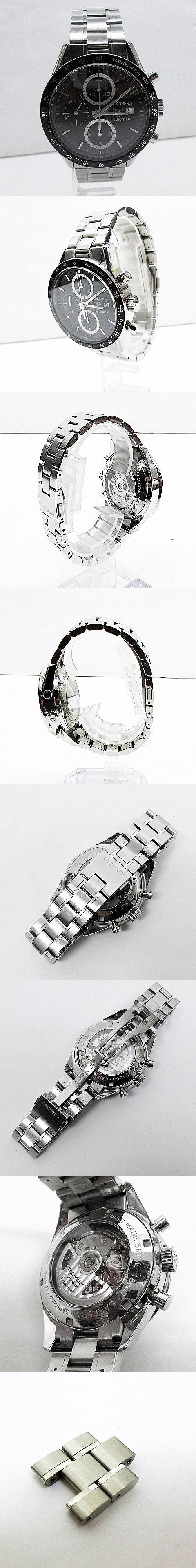 CV2010-3 CARRERA カレラ タキメーター クロノグラフ 自動巻き 腕時計 黒 ブラック系 シルバー