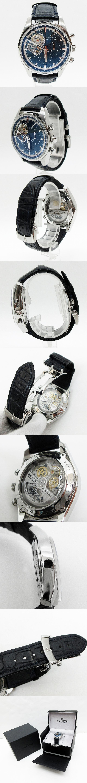 Ref.03.20416.4061/51.C700  エル・プリメロ クロノマスター トリビュート シャルル・ベルモ  SS/レザー ブルーダイアル 自動巻き 腕時計