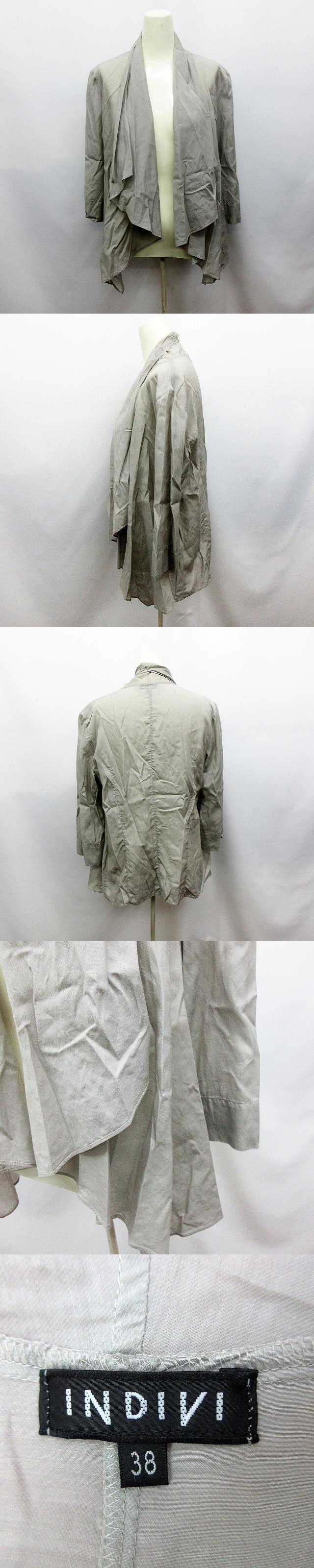薄手 七分袖 カーディガン 38 ライトグレー 灰色