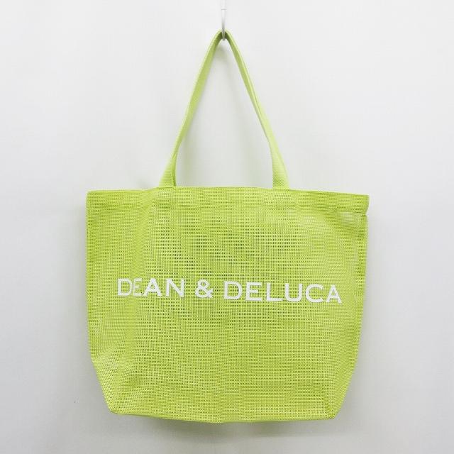 ディーンアンドデルーカ Dean Deluca トート バッグ かばん メッシュ シースルー ロゴ Pvcコーティング 黄緑 ライムイエロー 18 レディース 064 ベクトルパーク