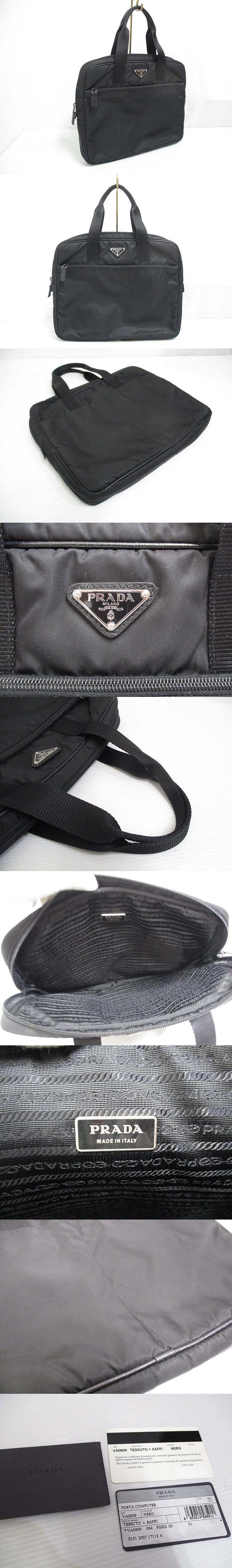 half off 1eaa9 17de2 Prada PRADA VA0609 briefcase PC bag black black business ...