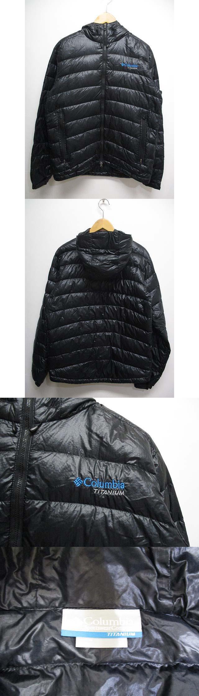 マーベル バンクス ジャケット ダウン L 黒ブラック PM5385 フード 軽量 アウター ブルゾン アウトドア