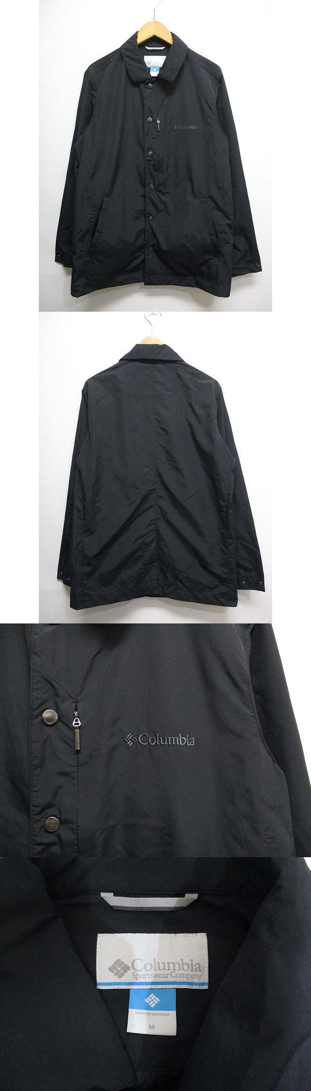 美品 PM3779 ホールズ スロープ ジャケット M 黒ブラック ナイロン コーチ ゼビオ限定 アウトドア