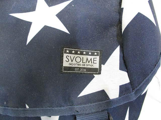 スボルメ SVOLME リュックサック バックパック ネイビー 紺 スター 星柄 メンズ