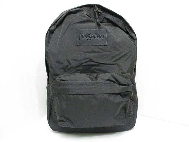 未使用品 ジャンスポーツ JANSPORT ナイロン リュックサック バックパック デイパック 黒 ブラック ロゴ メンズ レディース