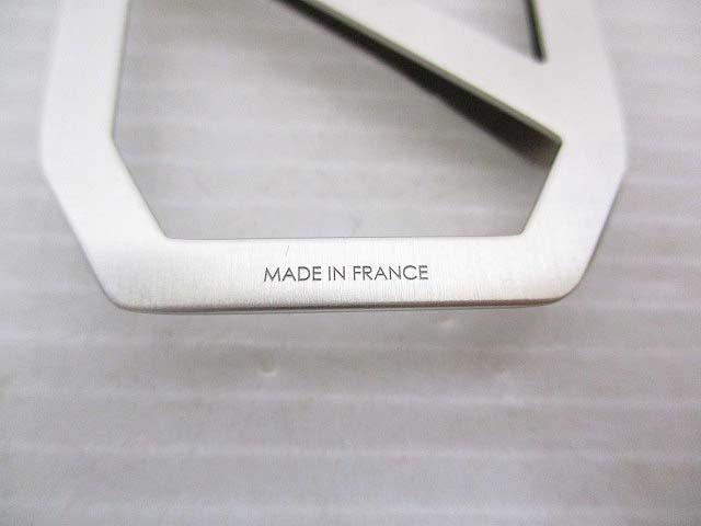 未使用品 エルメス HERMES マネークリップ デルタ シルバー色 フランス製 箱 保存袋付き