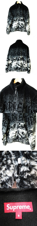 ★AA☆Wolf Fleece Jacket Black ウルフ フリース ジャケット 黒ブラック S