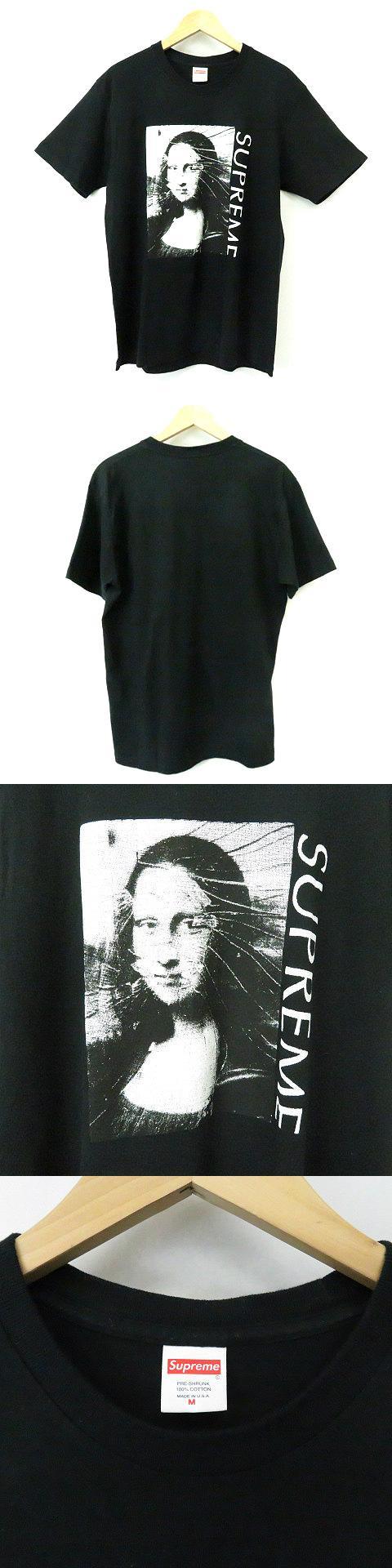 ★AA☆18SS Mona Lisa Tee Black モナリザ プリント 半袖Tシャツ カットソー 黒 M