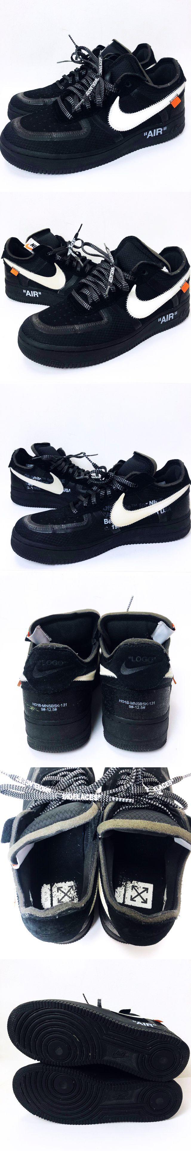 ★AA☆OFF WHITE THE 10 AIR FORCE 1 LOW BLACK AO4606-001 US9.5 27.5cm オフホワイト エアフォース 1 ロー スニーカー 靴 黒