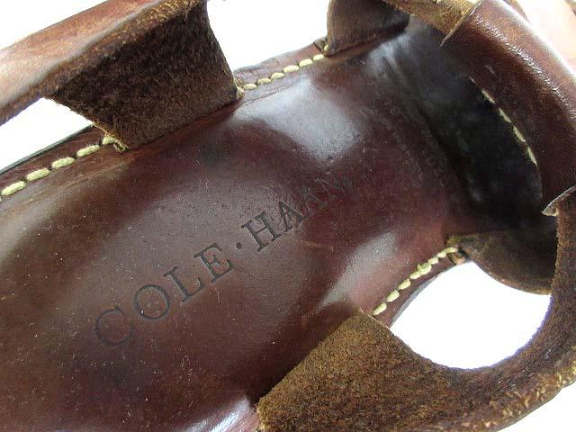 コールハーン COLE HAAN サンダル 10 1/2 ブラウン 茶 28,5 レザー 編み込み 13197 メンズ