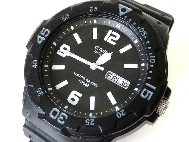 2c014d2324 カシオ CASIO 腕時計 アナログ クオーツ MRW-200H ダイバールック 黒 ブラック ウォッチ メンズ