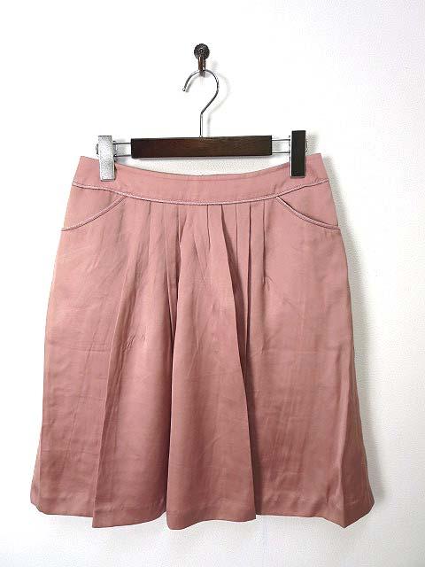 d3203461052e5 フラジール FRAGILE スカート フレア タック ラメ配色 M ピンク レディース