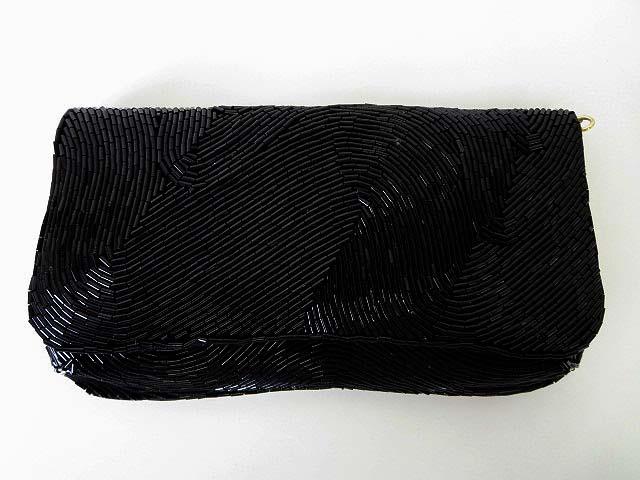 トプカピ TOPKAPI Di bello パーティバッグ クラッチバック ハンドバッグ 2way ビーズ 装飾 黒 ブラック かばん 鞄 カバン レディース