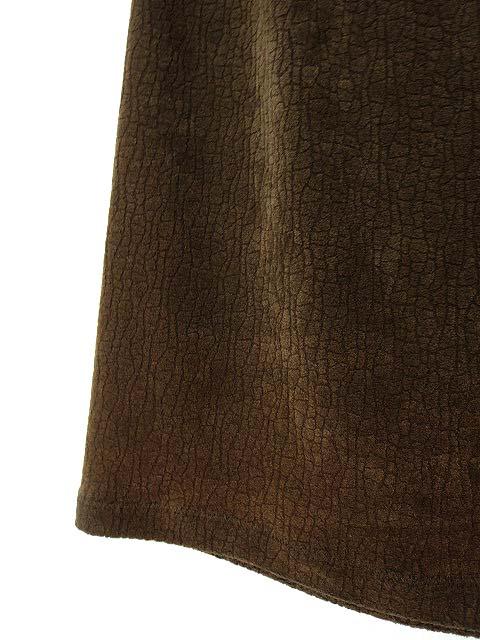 イタリヤ 伊太利屋 La moda goji スカート ロング タイト サイドファスナー 起毛 クロコダイル調 グラデーション S ブラウン 茶 レディース