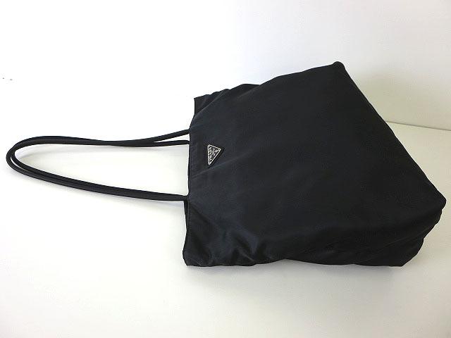a480765fabef ... プラダ PRADA バッグ トートバッグ ナイロン ロゴ 三角プレート 黒 ブラック シルバー金具 かばん 鞄 カバン