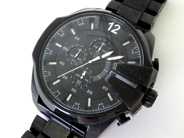 1edd1de5e7 ディーゼル DIESEL 腕時計 メガチーフ DZ-4283 クロノグラフ 黒 ブラック ステンレススチール ウォッチ メンズ