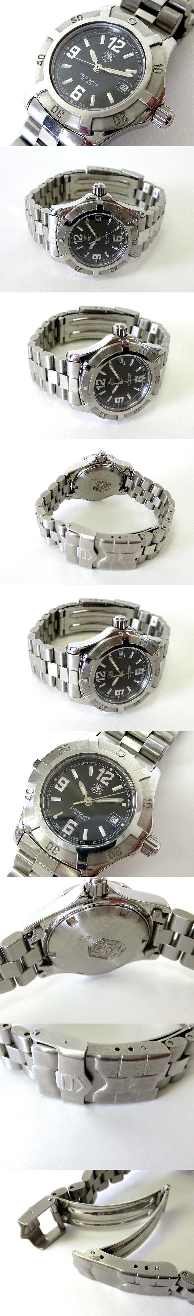 腕時計 プロフェッショナル 200 エクスクルーシブ デイト WN1310 クオーツ ステンレス 黒文字盤 電池交換 オーバーホール済