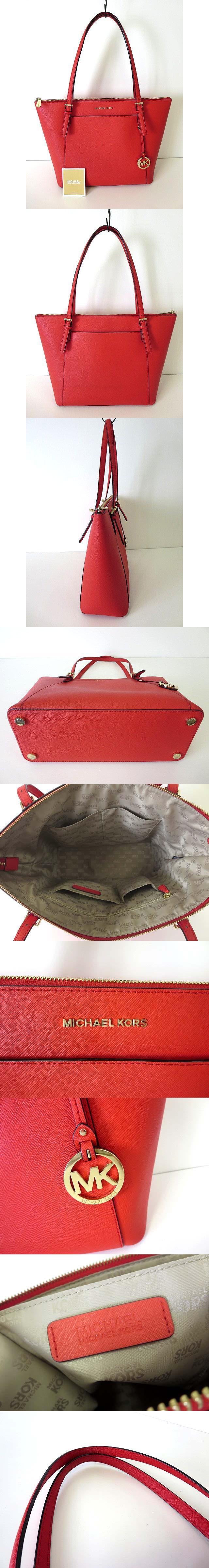 バッグ トートバッグ レザー カーフ ロゴ 赤 ゴールド金具 牛革 かばん 鞄 カバン 美品