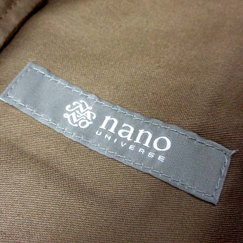 未使用品 ナノユニバース nano universe パンツ チノパンツ テーパード コットン ツイル ストレッチ L ブラウン 茶 美品 メンズ