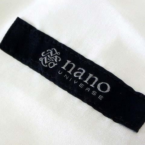 未使用品 ナノユニバース nano universe パンツ 2019SS ワイド リラックスフィット コットン ストレッチ M 白 ホワイト 美品 メンズ