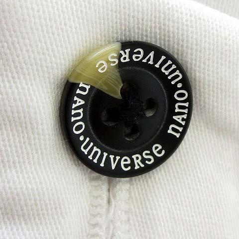 未使用品 ナノユニバース nano universe パンツ 2019SS ワイド リラックスフィット コットン ストレッチ S 白 ホワイト 美品 メンズ