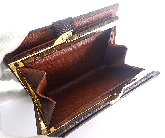 cheaper e75d3 0c6d2 ルイヴィトン LOUIS VUITTON モノグラム 2つ折り 財布 がま口 ポルトフォイユ ヴィエノワ M61674 レディース