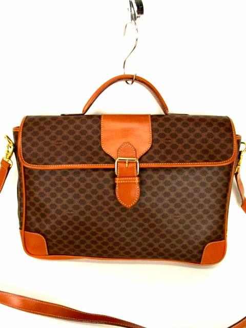 c6085fec1e35 セリーヌ CELINE ブリーフケース ブリーフバッグ ショルダーバッグ ビジネスバッグ マカダム柄 カバン 鞄 ブラウン系 茶系  メンズ/レディース/ユニセックス