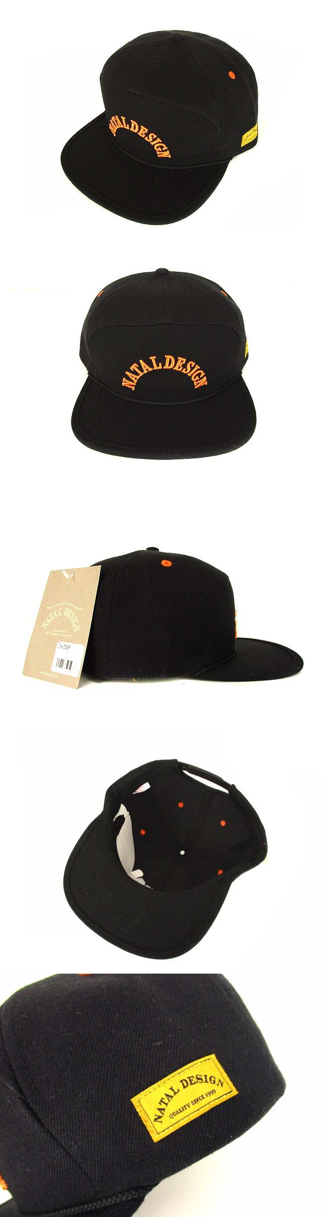 GOOD BOY CAP TWILL 20/80 キャップ 帽子 刺繍 アクリル ウール 黒 オレンジ F