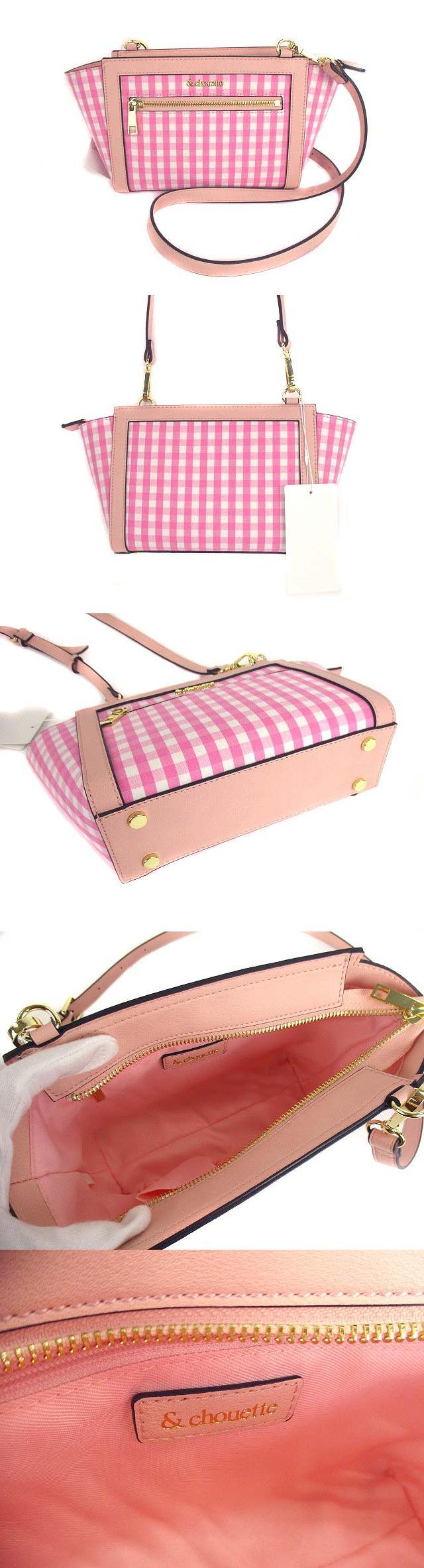 ショルダーバッグ ポシェット かばん 鞄 斜め掛け ギンガムサンティユ ピンク