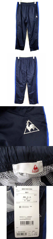 ウインドブレーカー パンツ ウインドパンツ 刺繍 裏地メッシュ ネイビー 紺 サイズ0 タグ付き QB474973FK スポーツウェア トレーニングウェア