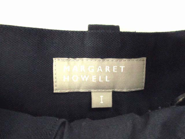 マーガレットハウエル MARGARET HOWELL ショートパンツ 綿 コットン 無地 ネイビー 紺 サイズ1 レディース