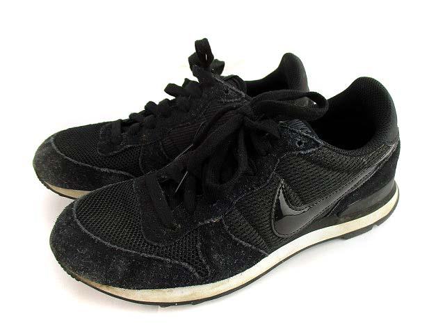 ナイキ NIKE ウィメンズ インターナショナリスト スニーカー シューズ 靴 828407-003 ブラック 黒 24.5 レディース