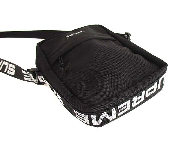 シュプリーム SUPREME 18SS Shoulder Bag ショルダーバッグ 斜め掛け かばん 鞄 ボックスロゴ CORDURA コーデュラ 黒 ブラック ☆AA★ メンズ