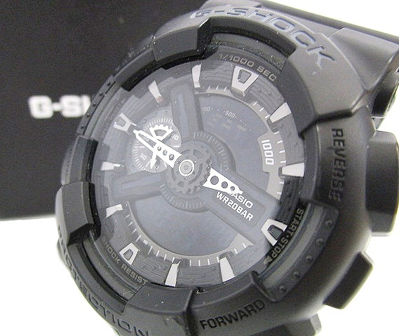 42ffb0f534b74 カシオジーショック CASIO G-SHOCK 腕時計 プロテクション PROTECTION ビッグフェイス 5146 Ga-110 防水 アナデジ  黒 ブラック C98798 メンズ