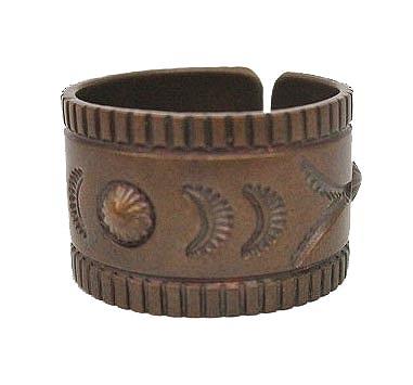 ホーボー hobo 指輪 リング desert flower copper ring wide HB-A2207 デザートフラワー 銅 18号 茶 ブラウン C06563 メンズ