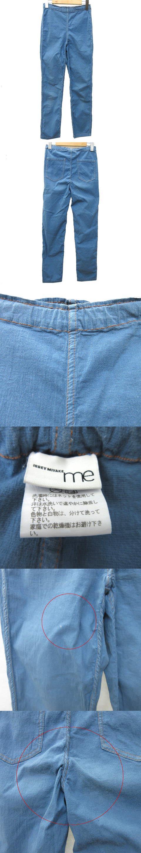 イージー スリム パンツ ストレッチ コットン ウエストゴム 日本製 青 ブルー Y10815