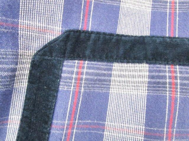ビズビム VISVIM 12AW シャツ 長袖 5-NATION SHIRT L/S ベロアテープ チェック ボタンダウン コットン 2 M 紫 パープル C052108 メンズ