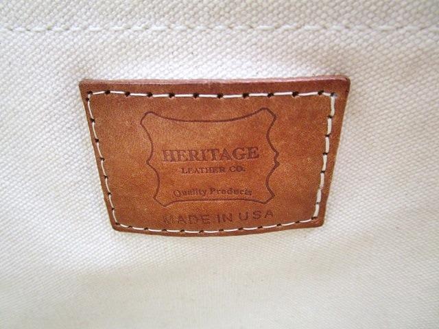 グラッドハンド GLAD HAND&CO. x Heritage ヘリテージ メイソンバッグ ボストンバッグ 手書き USED加工 ハンドペイント キャンバス レザー A4 オフホワイト C071602 メンズ