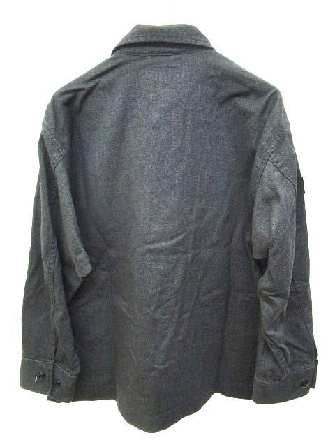 ディセンダント DESCENDANT 20SS シャツジャケット ワークシャツ カバーオール DWU WORK SHIRT 長袖 ムラ染め加工 コットン 1 S M ダークグレー C080410 メンズ