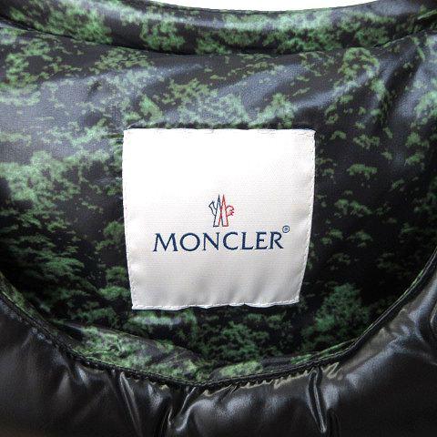 モンクレール MONCLER ファレル ウィリアムス限定 ダウンベスト 防弾チョッキ型 68950 レザーコンビ 国内正規 1 サイズS 黒 ブラック ☆AA★K051108 メンズ