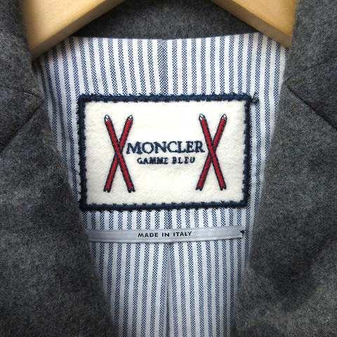 モンクレール MONCLER gamme bleu byトムブラウン テーラードジャケット ダウン 迷彩 カシミヤ 本切羽 スナップボタン 1 サイズS グレー ☆AA★ K051106 メンズ