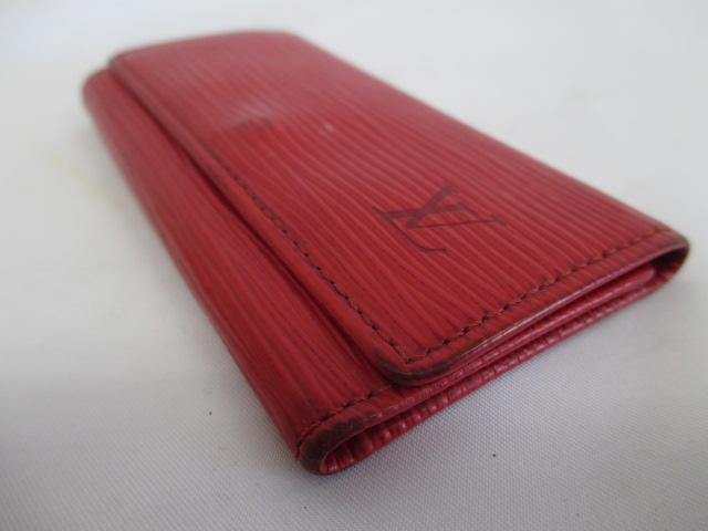 ルイヴィトン LOUIS VUITTON エピ キーケース 4連 赤 M63827 ミュルティクレ4 レッド D4279 メンズ レディース