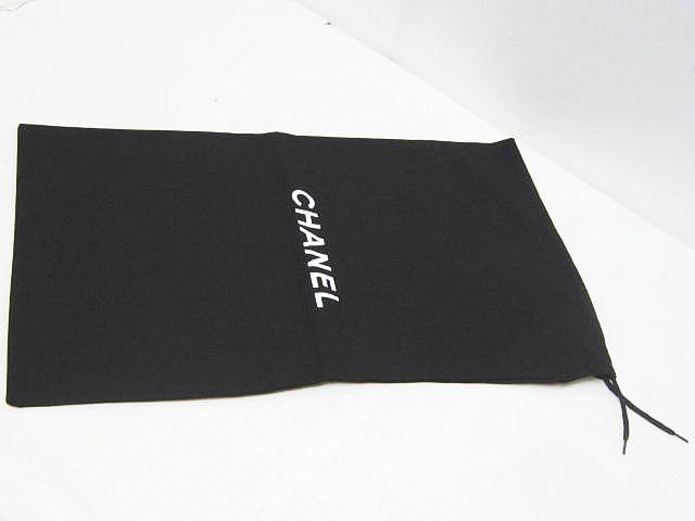 111a4f2284fe シャネル CHANEL 保存袋 2枚セット シューズ入れ ブランドロゴ 巾着 ブラック 黒 布 レディース