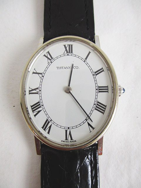 info for 18257 d7dee ティファニー TIFFANY & CO. クラシック ホワイトゴールド 750 腕時計 クロコ 手巻 レザー 16 アンティーク メンズ