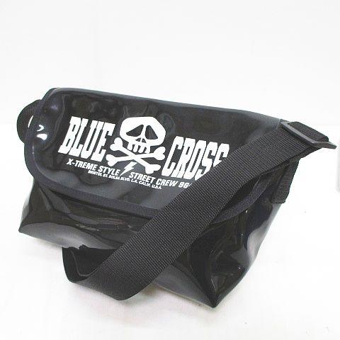 BLUE CROSS ブルークロス ショルダー バッグ 斜めがけ スカル ロゴ プリント ブラック 黒 キッズ