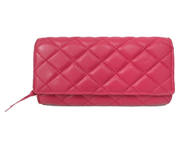 25f2b4213a70 未使用品 ディータ ヴィンテージ Dita Vintage 長財布 ウォレット キルティング レザー 二つ折り ピンク レディース
