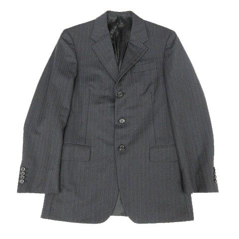 online retailer 16d14 8dc5c プラダ PRADA スーツ セットアップ ジャケット スラックス ストライプ ダークグレー 46 ※L メンズ