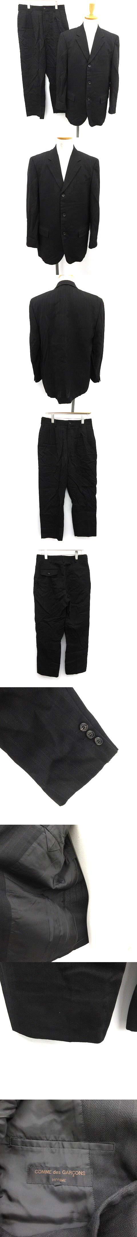 スーツ セットアップ 上下 ジャケット パンツ M 黒 ブラック /KH